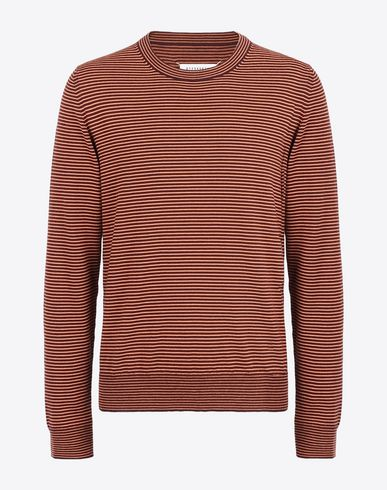 MAISON MARGIELA Crewneck sweater U Striped crewneck sweater f