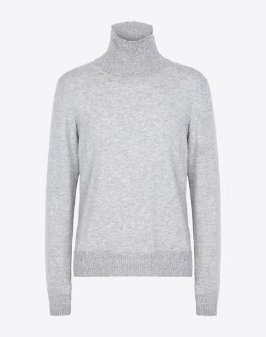 MAISON MARGIELA High neck sweater U Turtleneck with contrasting rib knit f