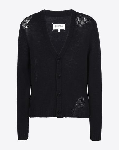 MAISON MARGIELA Cardigan U V-neck wool cardigan f