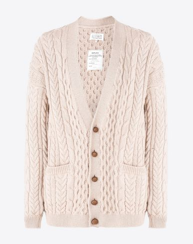 MAISON MARGIELA 14 Cardigan U Cable knit wool cardigan f