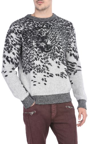 JUST CAVALLI Crewneck sweater U Crew-neck pullover with print design f