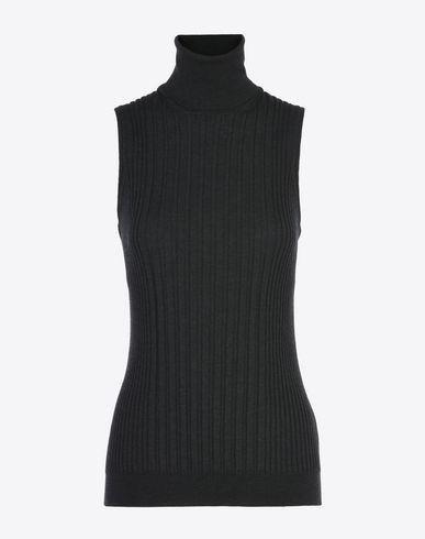 MAISON MARGIELA Sleeveless sweater D Sleeveless rib knit turtleneck f