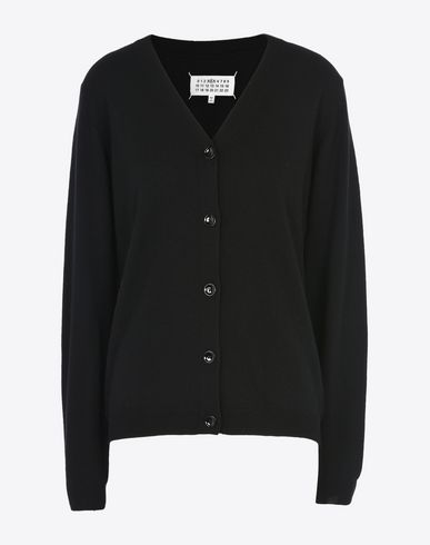 MAISON MARGIELA Cardigan with elbow patches Cardigan D f