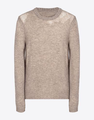 MAISON MARGIELA Crewneck sweater U Light weight wool crewneck jersey sweater f