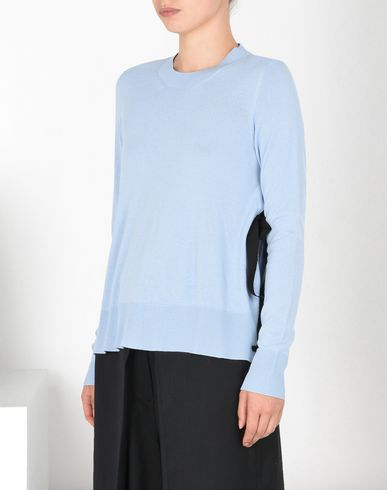 MM6 MAISON MARGIELA Long sleeve sweater D Crewneck sweater with contrasting laces f