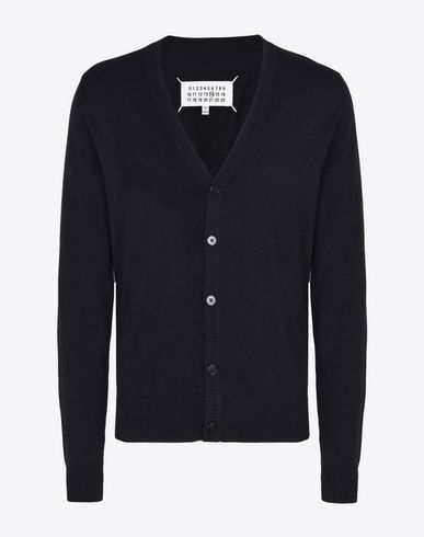 MAISON MARGIELA Cardigan U V-neck cotton wool blend cardigan f
