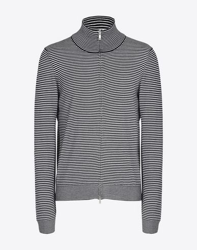 MAISON MARGIELA Cardigan U Striped zip up sweater f