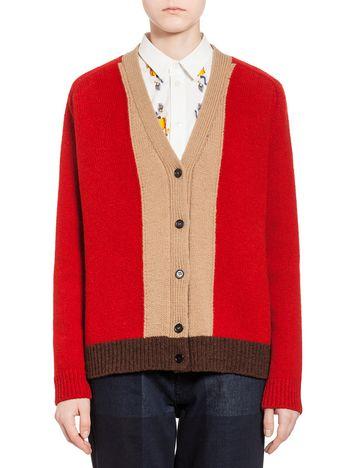 Marni Cardigan in wool with intarsia Woman