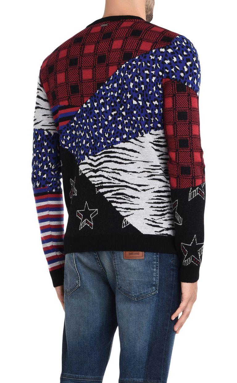 JUST CAVALLI Patterned design pullover Crewneck sweater Man d