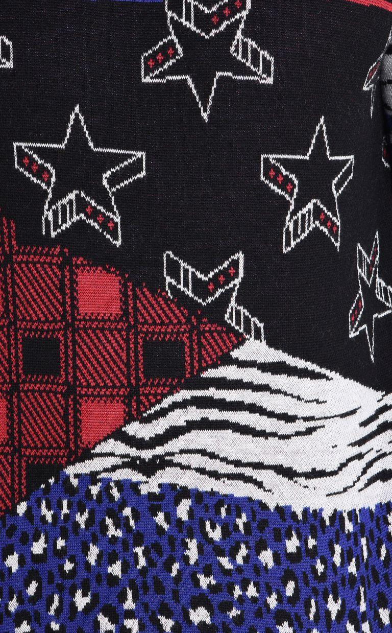JUST CAVALLI Patterned design pullover Crewneck sweater Man e