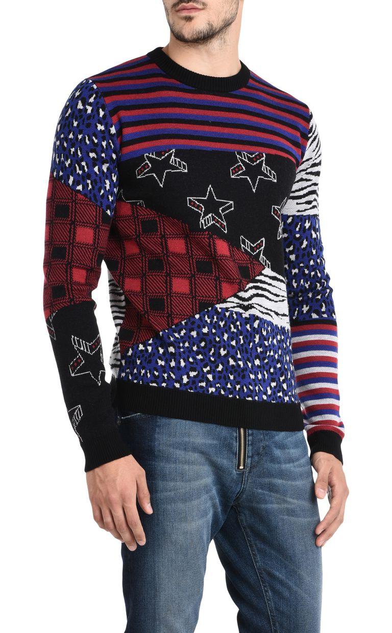 JUST CAVALLI Patterned design pullover Crewneck sweater Man f
