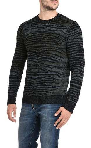 JUST CAVALLI Crewneck sweater U Zebra-print design pullover f