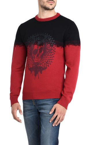 JUST CAVALLI Crewneck sweater U Two-coloured pullover with print design f
