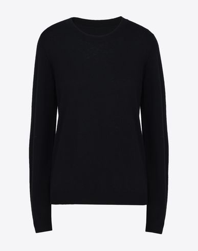 MAISON MARGIELA Long sleeve sweater D Crewneck sweater with elbow patches f
