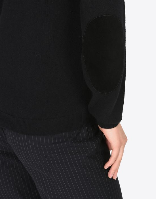 MAISON MARGIELA Crewneck sweater with elbow patches Long sleeve sweater [*** pickupInStoreShipping_info ***] a