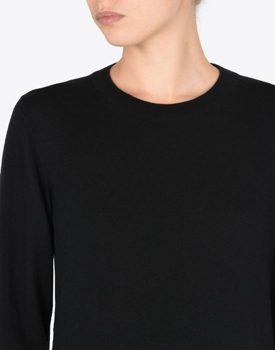 MAISON MARGIELA Crewneck sweater with elbow patches Long sleeve sweater [*** pickupInStoreShipping_info ***] b