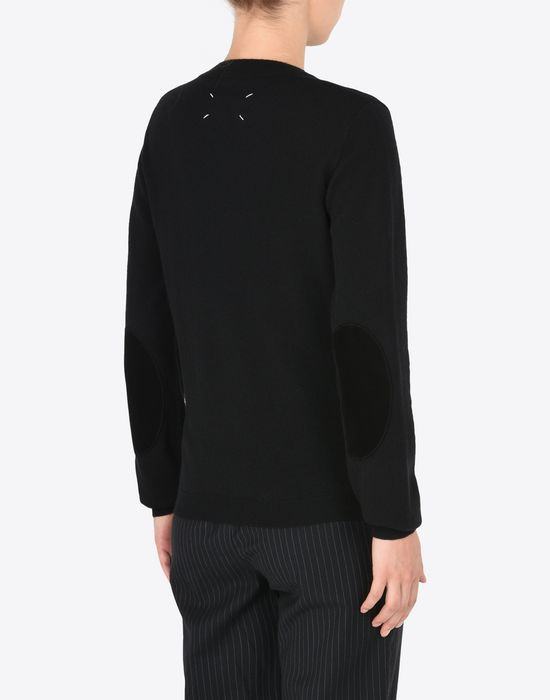MAISON MARGIELA Crewneck sweater with elbow patches Long sleeve sweater [*** pickupInStoreShipping_info ***] e