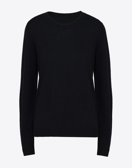 MAISON MARGIELA Crewneck sweater with elbow patches Long sleeve sweater [*** pickupInStoreShipping_info ***] f