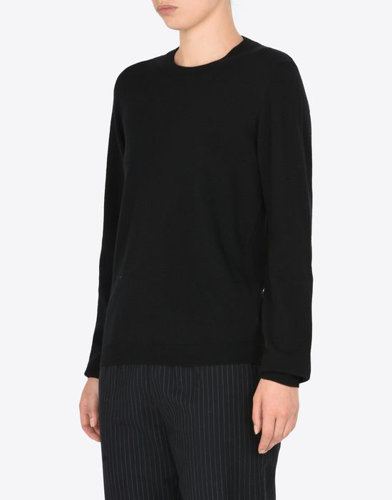 MAISON MARGIELA Crewneck sweater with elbow patches Long sleeve sweater [*** pickupInStoreShipping_info ***] r
