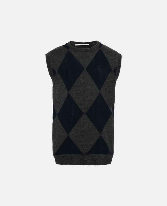 Harlequin Sleeveless Jumper