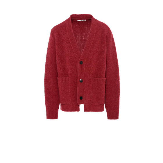 Red V-Neck Cardigan