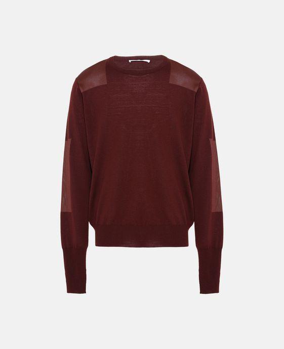 Burgundy Crew-Neck Jumper