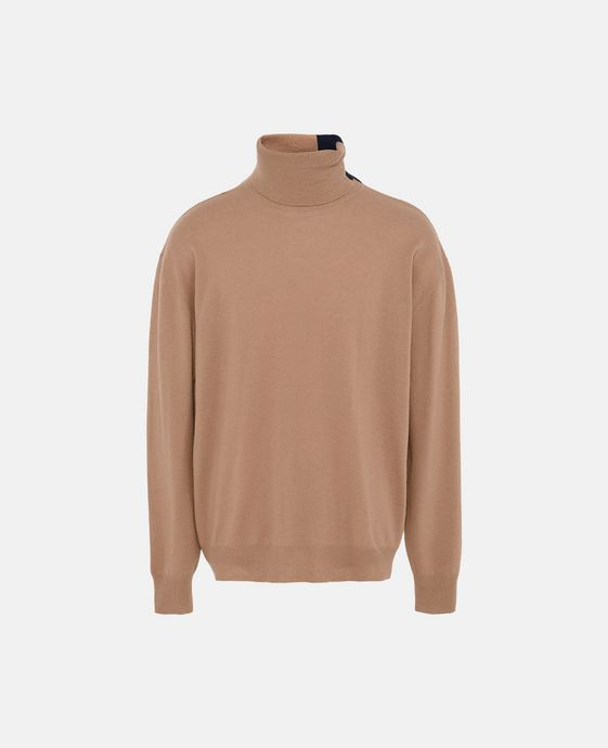 Camel Knit Turtleneck Jumper