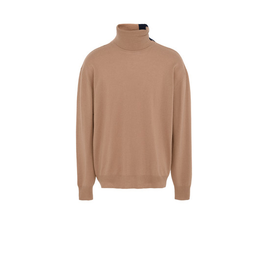 Camel Knit Turtleneck Sweater