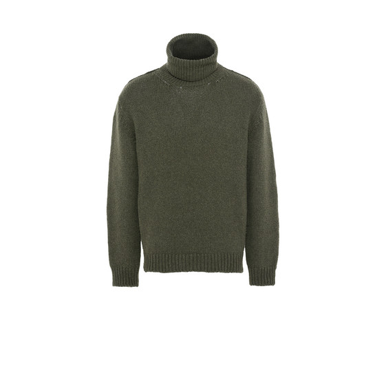 Green Kemen Turtleneck Jumper