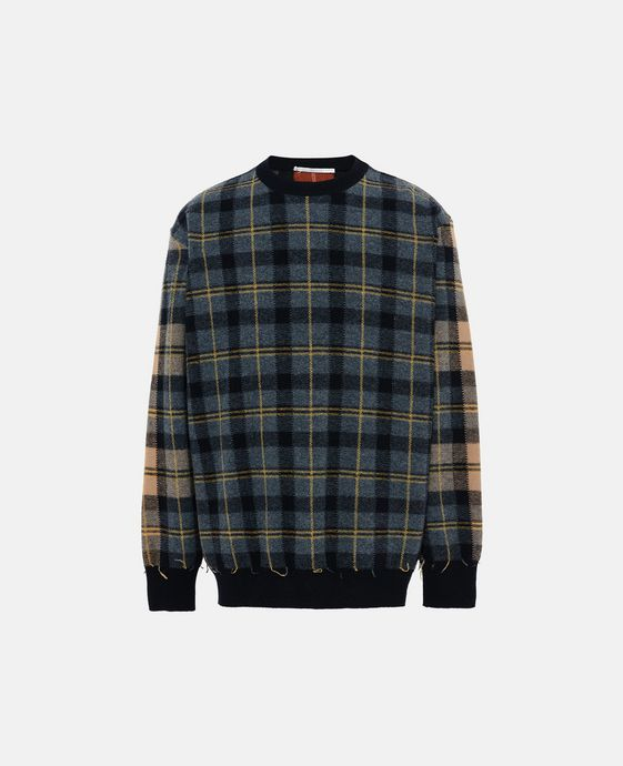 Tartan Crew-Neck Sweater