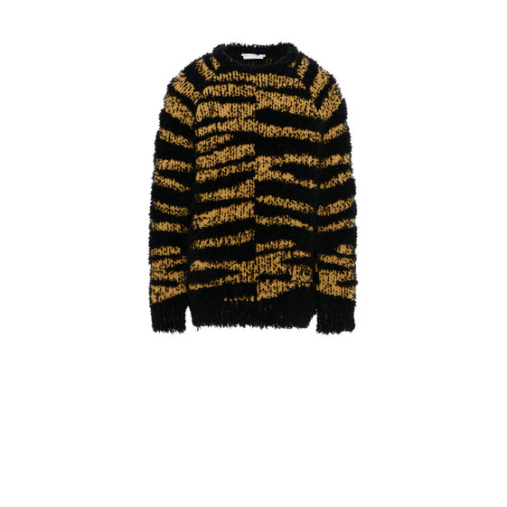 Tiger-Print Mohair Kristoff Sweater