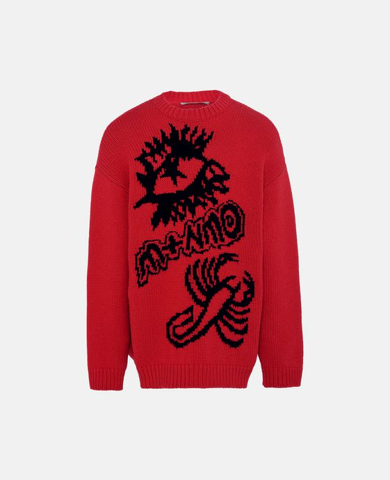 Red Crew-Neck Kristoff Jumper