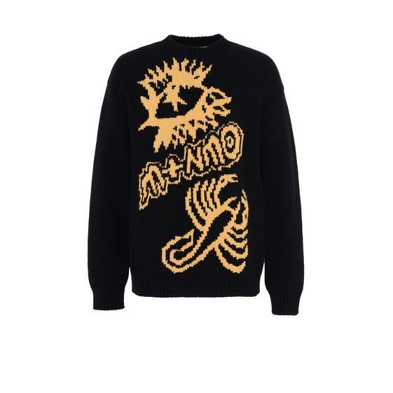 Black Crew Neck Kristoff Jumper