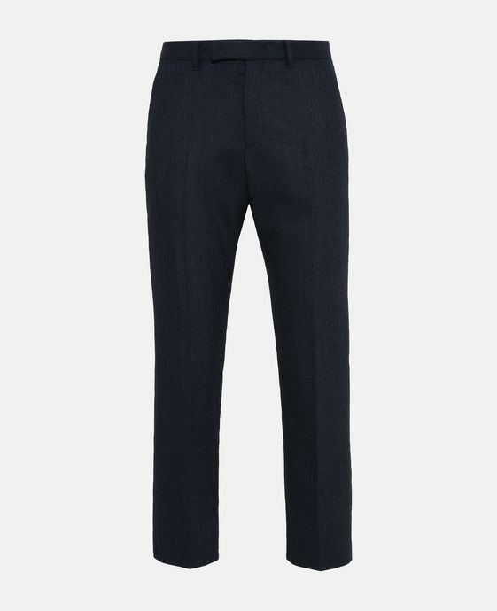 Blue Tapered Peader Trousers