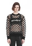 ALEXANDER WANG CHECKERBOARD BURNOUT PULLOVER WITH INTARSIA STRICT GRAPHIC 运动衫 Adult 8_n_e
