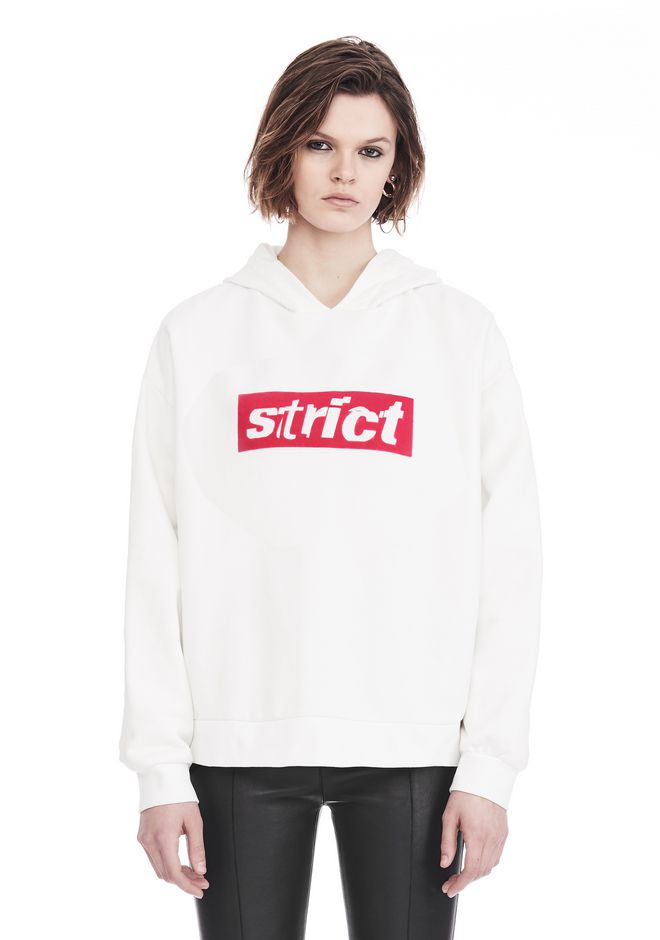 ALEXANDER WANG SWEATSHIRTS Women OVERSIZED HOODIE WITH STRICT PATCH