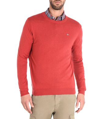 NAPAPIJRI DAMAVAND CREW MAN CREWNECK SWEATER,RED