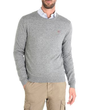NAPAPIJRI DAMAVAND MAN CREWNECK SWEATER,GREY