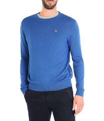 NAPAPIJRI DAMAVAND CREW MAN CREWNECK SWEATER,BLUE