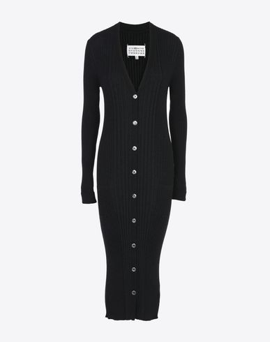 MAISON MARGIELA Cardigan D Elongated rib knit cardigan f