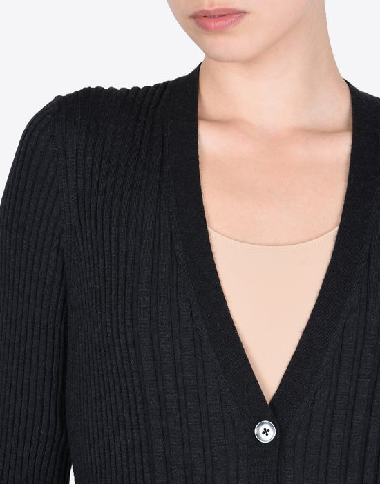 MAISON MARGIELA Elongated rib knit cardigan Cardigan D b