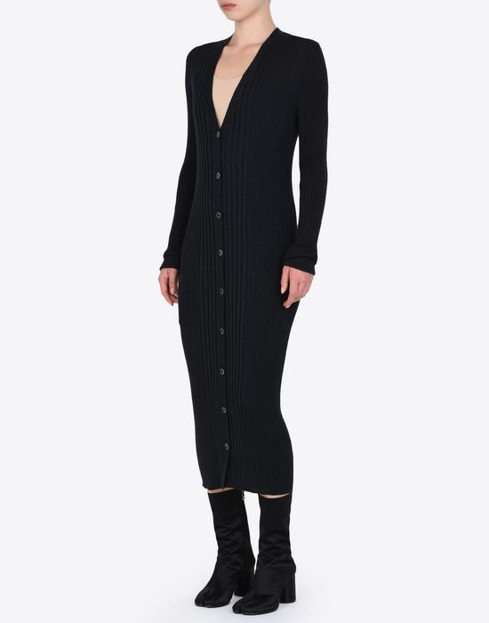 MAISON MARGIELA Elongated rib knit cardigan Cardigan D r