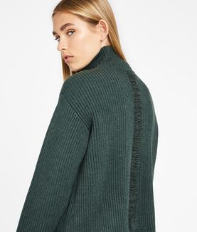 KARL LAGERFELD SOUTACHE DETAIL SWEATER