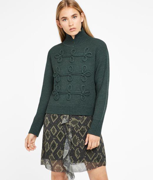 KARL LAGERFELD Soutache Detail Sweater 12_f