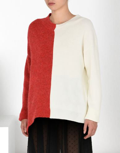 MM6 MAISON MARGIELA Long sleeve sweater D Asymmetric wool blend sweater f
