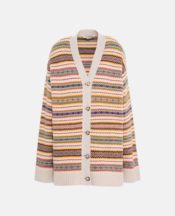 Fairisle V-Neck Cardigan