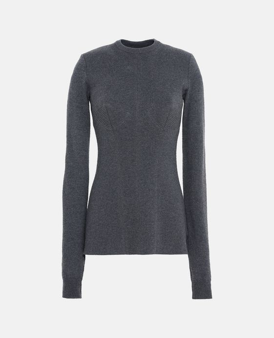 Gray Round Neck Sweater