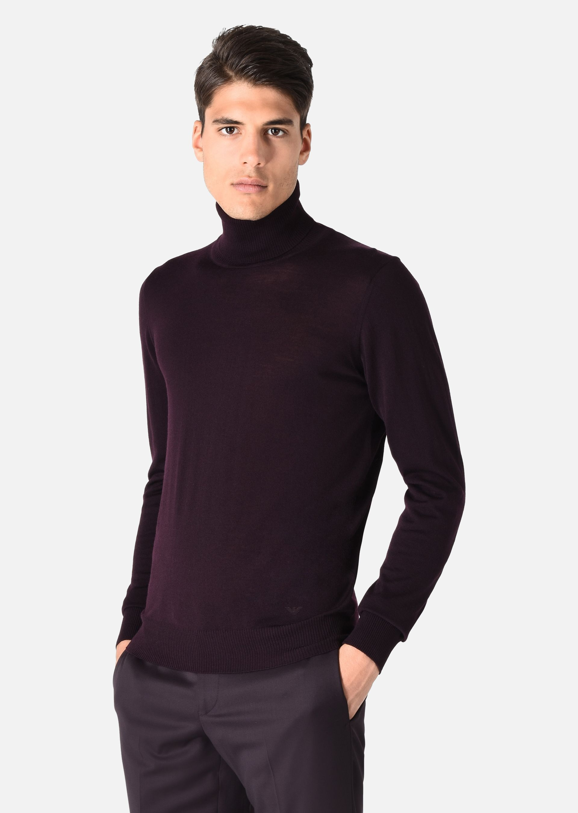 TURTLENECK SWEATER IN VIRGIN WOOL for Men | Emporio Armani