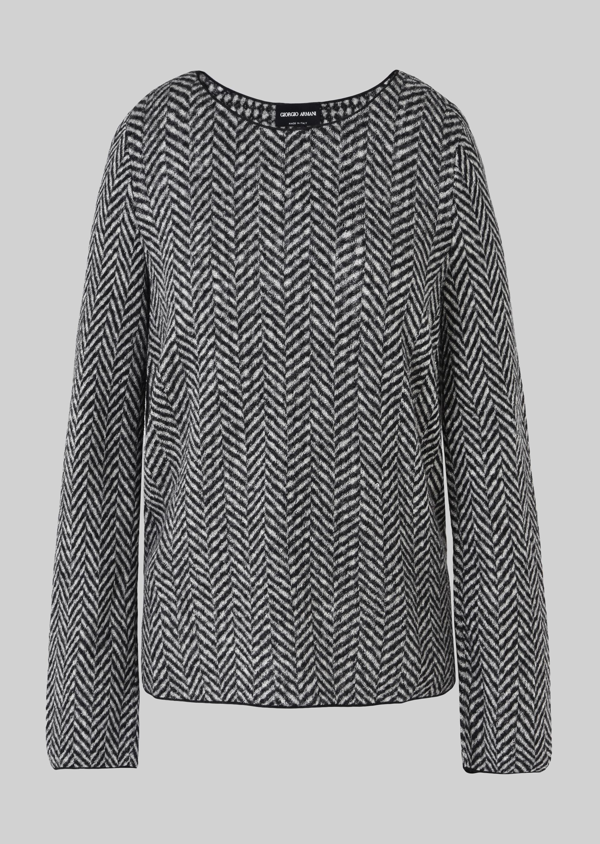 GIORGIO ARMANI REVERSIBLE WOOL SWEATER Knitted Top D r
