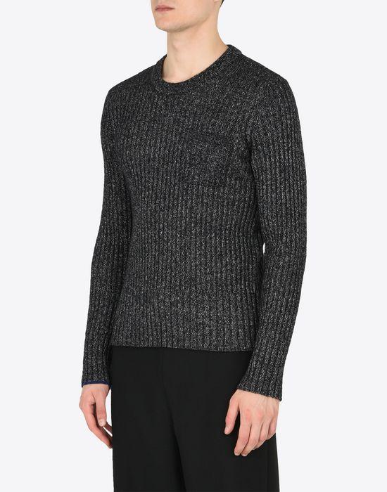 MAISON MARGIELA Rib knit wool blend sweater Crewneck Man r